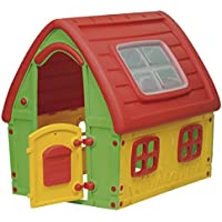 Starplast Red Green Yellow Fairyhouse Indoor Outdoor Activity Plastic (L) 125 x (W) 102 x (H) 121cm