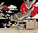 BZDHWWH Japanischen Stil Mandschurenkranz Sakura Blume Tapete Wandbild Für Zimmer 3D Wandbild Fototapete 3D Wandbild Für Weihnachten,420 Cm×250 Cm