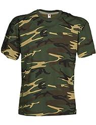 Camouflage Shirt Classic Army Style T-Shirt Kurzarm in Tarnfarbe für Herren, Damen und Kinder