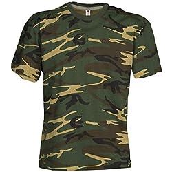 Classic Army Style Camiseta de manga corta en color camuflaje, L