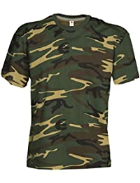 Camouflage Shirt Classic Army Style T-Shirt Kurzarm in Tarnfarbe für Herren,  Damen… 25898a11e8