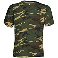 Damen Camouflage Classic Army Style T-Shirt Kurzarm in Tarnfarbe