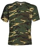 Camouflage Shirt Classic Army Style T-Shirt Kurzarm in Tarnfarbe grün