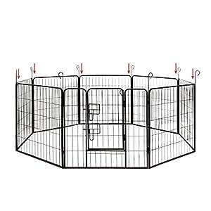 welpenauslauf ziigo 8tlg 80x100 welpenaufstall ideale freigehege f r hunde kaninchen kleine. Black Bedroom Furniture Sets. Home Design Ideas