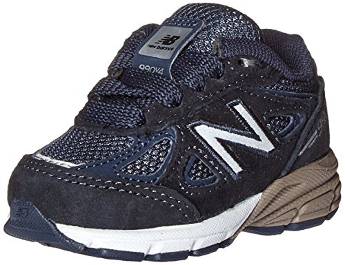 Boy Toddler Sneakers Balance New (New Balance Grau Schnürer Baby Wiege Schuh, Aus Wildleder und Synthetik, mit Seitlichem Logo, Kind, Boy, Jungen, Blau - Navy - Größe: 19 EU W)