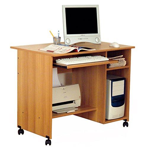 Scrivania porta PC ufficio portatastiera 90x52xh73cm color noce SPRINT (Ufficio Noce Scrivania)