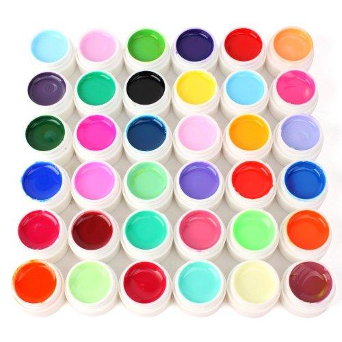 36 pièces Nail Art Pur Transparent Conseils Gel UV DIY Décoration