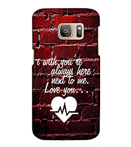 Fuson Designer Back Case Cover for Samsung Galaxy S7 Edge :: Samsung Galaxy S7 Edge Duos :: Samsung Galaxy S7 Edge G935F G935 G935Fd (I wish you are always here theme)