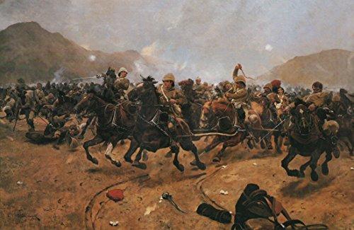 Spart die Waffen in der Schlacht von Maiwand von Richard Caton Woodville. Military Geschichte Open Edition Kunstdruck.