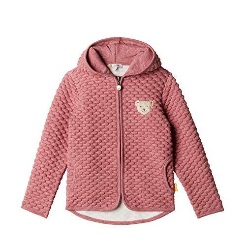 Steiff Baby - Mädchen Sweatjacke , Rot (BEET RED 4010) , 80 (Herstellergröße:80)