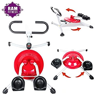 Ab Exercise Fitness Machine 10 IN 1 Body Workout Tone Shape Strengthen Thighs Hips Arms Bum Shoulders Burn Abdominal Fat Abs Trainer Cruncher Roller Smart Wondercore Circular Motion Pro Home Gym from Ram Fitness