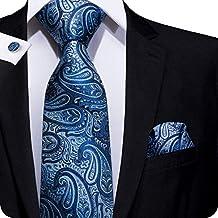 Set Hi-Tie de pañuelo y corbata de seda con estampado de cachemir 6d7044a6c30