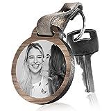 schenkYOU Schlüsselanhänger aus Holz LIEBLINGSMENSCH! mit rückseitiger Fotogravur