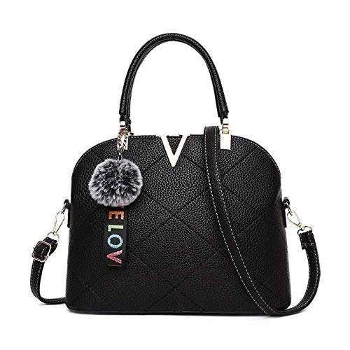 Förmige Handtasche (SEBAS Home Herbst und Winter V-förmige Handtasche weibliche Tasche Anti-Frost-Sprung PU Leder Mode Gezeiten Schulter Messenger Bag)