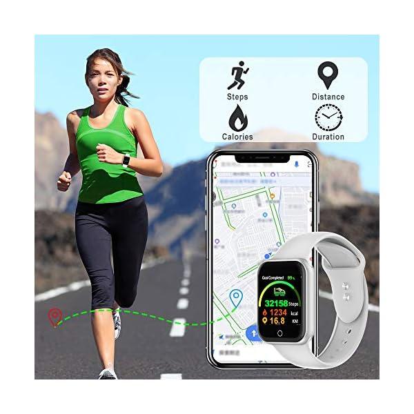 Smartwatch, KUNGIX Reloj Inteligente Impermeable IP68 Pulsera de Actividad Inteligente con Monitor de Sueño Pulsómetros… 6