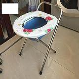 YUSHI Toilettenstuhl rostfreier Stahl Ältere Schwangere Frauen benutzen Mazar einfache Art Klappbarer Toilettensitz