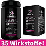 VIMAVETIA HAAR & HAUT VITAL KOMPLEX+ Haar-Vitamine, Haut-Vitamine, Haarwachstum, Haarausfall,...