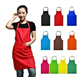 Dark Green : Women Apron with Pockets Kitchen Restaurant Cooking Shop Art Work Apron Korean Waiter Aprons