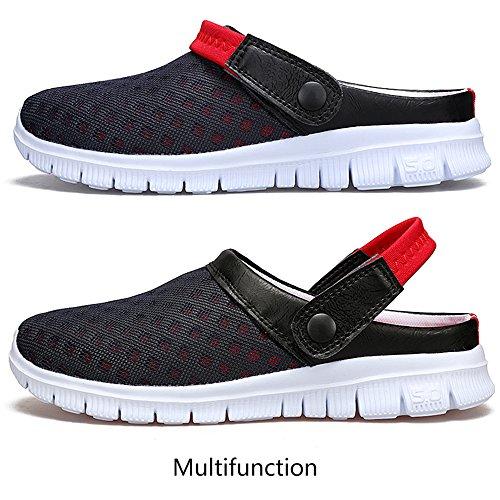 SITAILE Damen Herren Clogs Hausschuhe Sandalen Freizeit Pantoletten Schuhe Red