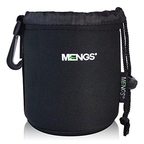 MENGS® Kleine Größe (S) High Grade schützenden Neopren Objektivtasche Haken und Gürtelschlaufe - 86x110mm