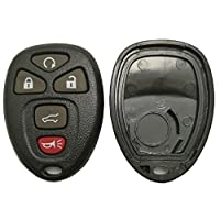Replacement Key Fob Case Shell Fit for Chevy Suburban Tahoe Traverse/GMC Acadia Yukon/Cadillac Escalade SRX/Buick Enclave/Saturn Outlook 2007 2008 2009 2010 Keyless Entry Remote Car Key Cover Casing