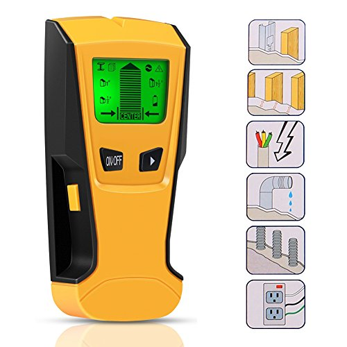 Ortungsgerät,ZOTO 3 in 1 Detektor Holz,Multifunktions Leitungssucher mit LCD Bildschirm,Digitales Stud Finder für Metall,Rohre,Holz,Stromleitung,Balkenfinder (Digital-stift-scanner)