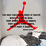 stickers muraux Wall Sticker Quote You Must Expect Great Things Of Yourself Michael Jordan Inspiration Quote Wall Sticker Motivation Decal Living Kids Room Vinyl