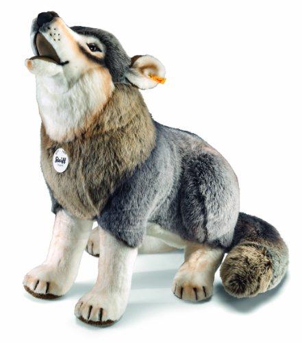 Steiff 075759 - Snorry Wolf - sitzend, 60 cm, grau