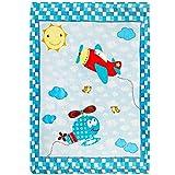 Delindo Lifestyle Krabbeldecke LUFTIKUS / flauschig weiche Spieldecke / Babydecke 110x140 cm / für Mädchen und Jungen