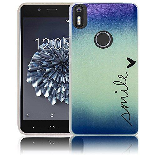 bq Aquaris X5 Plus Passend Smile Handy-Hülle Silikon - staubdicht, stoßfest & leicht - Smartphone-Case