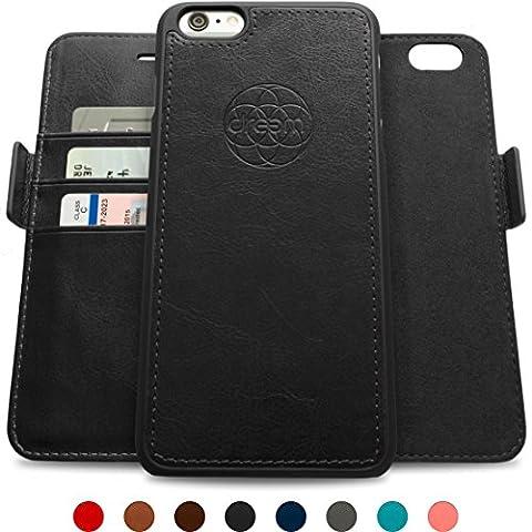 Coque + étui portefeuille magnétique Dreem Fibonacci pour iPhone 6, protection RFID, 2 positions possibles, en simili-cuir haut de gamme, dans un emballage cadeau -