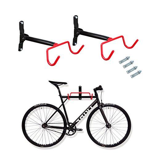 Voilamart 2 Stück Fahrrad Wandhalterung,Fahrradhalterung Fahrrad-Wandhalter Fahrradaufbewahrung Fahrradständer Fahrradhalter zur Wandmontage,schwarz