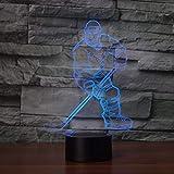 HPBN8 3D Eishockey Illusions LED Lampen Tolle 7 Farbwechsel Acryl berühren Tabelle Schreibtisch-Nacht licht mit USB-Kabel für Kinder Schlafzimmer Geburtstagsgeschenke Geschenk