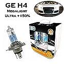 2x General Electric GE H4 60/55W 12V P43t 50440NXNU Original High Tech +150% mehr Licht Weiß White Ersatz Scheinwerfer Halogen Auto Lampe - E-geprüft