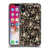 Head Case Designs Offizielle Julia Badeeva Fuchs Tierische Muster 4 Soft Gel Hülle für iPhone X/iPhone XS