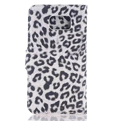 Samsung Galaxy S6 Case,leopard - Spot Lederetui Stehen Fall Schwarz Hardcover Für Samsung S6 ( Color : 1 , Size : Samsung S6 ) 2