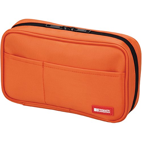 lihit-lab-teffa-pen-case-book-style-orange-japan-import