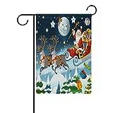 COOSUN Weihnachten Santa Claus Polyester Garten-Flagge im Flagge Home Party Garten Decor, doppelseitig, 30,5x 45,7cm (30,48x 45,72cm), Polyester, mehrfarbig, 28x40(in)