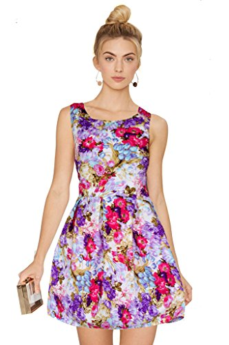 western dresses for women Floral Purple Skater Colour exclusive Dress ( All Size available )
