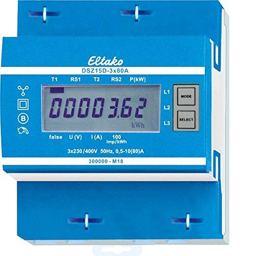 Zähler-stand (Eltako DSZ15D-3x80A Drehstromzähler, MID geeicht, 400 V)