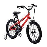 """R-45,72 cm (18"""")""""BMX Freestyle per Bici per Bambini, Colore: Rosso, Verde, Blu e Bianco, Regolabile, con stabilizzatori Rimovibili Senza wate Sport-Bottiglia e Supporto"""
