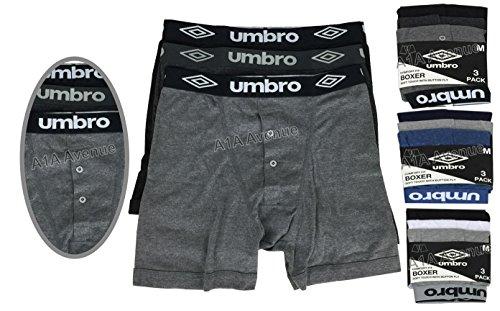 3/6/12 X Umbro-Boxer da uomo a tinta unita da donna, intimo, motivo Boxer, taglia: XL (taglia s), x-large