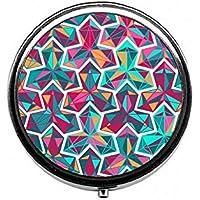 LinJxLee Geometric Patterns Portable Round Pill Case Pill Box Medicine Box Medicine Tablet Vitamin Organizer for... preisvergleich bei billige-tabletten.eu