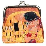 Fridolin Porte-Monnaie à Fermoir Clic Clac Klimt Le Baiser, 10 cm, Multicolore
