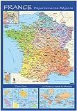 Carte Souple Murale France Departement [Fournitures de bureau]