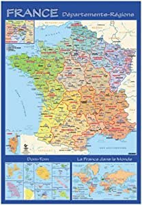 Carte Souple Murale France Departement [Fournitures de bureau]