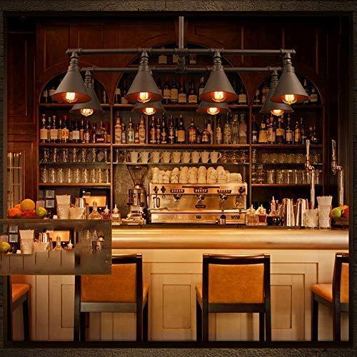 Lámpara de techo industrial Vintage luz Edison rústico retro luz colgante Steampunk...