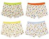Sivice 4 Stück Baumwolle Jungen Kinder Unterhosen Boxershorts Kleinkinder Unterwäsche Autos und Busse Muster 2 Jahre alt Kinder