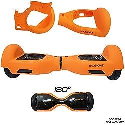 """SILISKINZ® Cubierta de la Caja de la Jalea del silicón de 180 Grados Hoverboard - para 6.5""""Scooter Elegante de la Rueda 2 de Swegway (Naranja)"""
