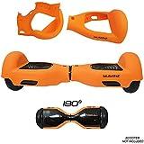 SILISKINZ Cubierta de la Caja de la Jalea del silicón de 180 Grados Hoverboard - para 6.5'Scooter Elegante de la Rueda 2 de Swegway (Naranja)